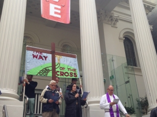Way of the Cross 2016, Collins Street Baptist Church, 2MB, led by Revs Carolyn Francis and Barrie Sutton with Ric Holland