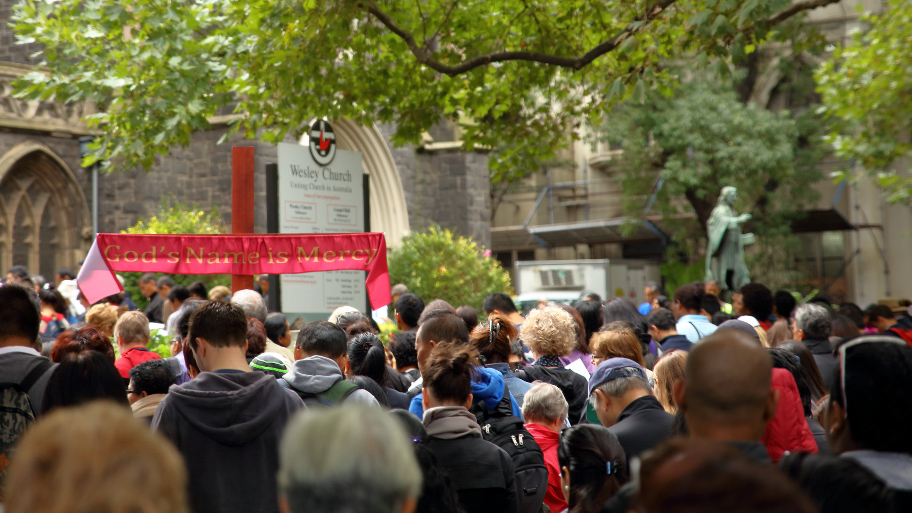 MCCIA Way of the Cross Wesley Uniting Church Melbourne Lonsdale Street